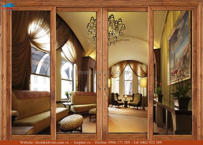 Cửa kính khung gỗ