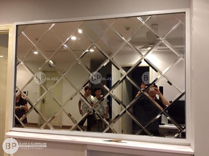 Lắp gương trang trí tại chung cư Timecity, Hai Bà Trưng