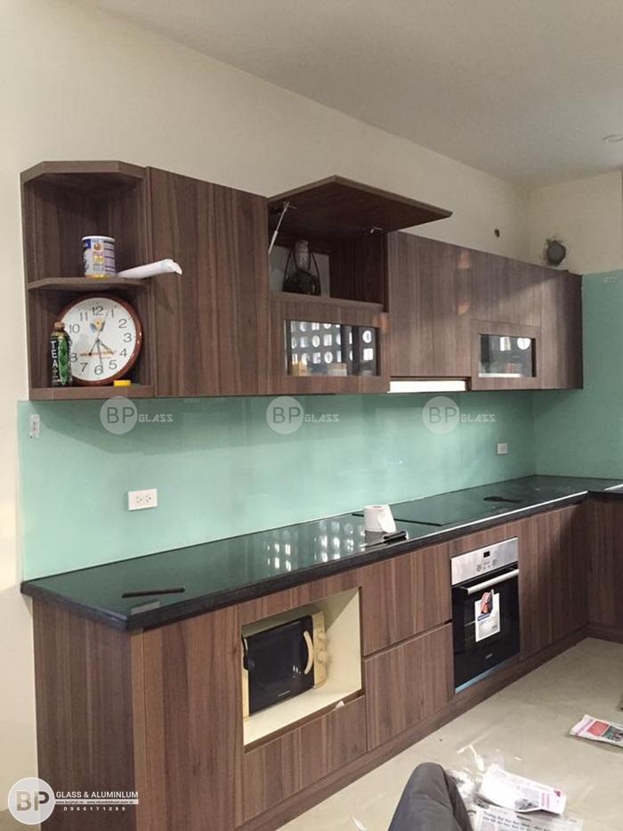 Hình ảnh kính ốp bếp nhà anh Giang tại Thanh Oai HN