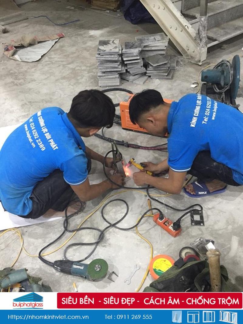 Công trình lan can cầu thang kính inox tại TP Hải Phòng