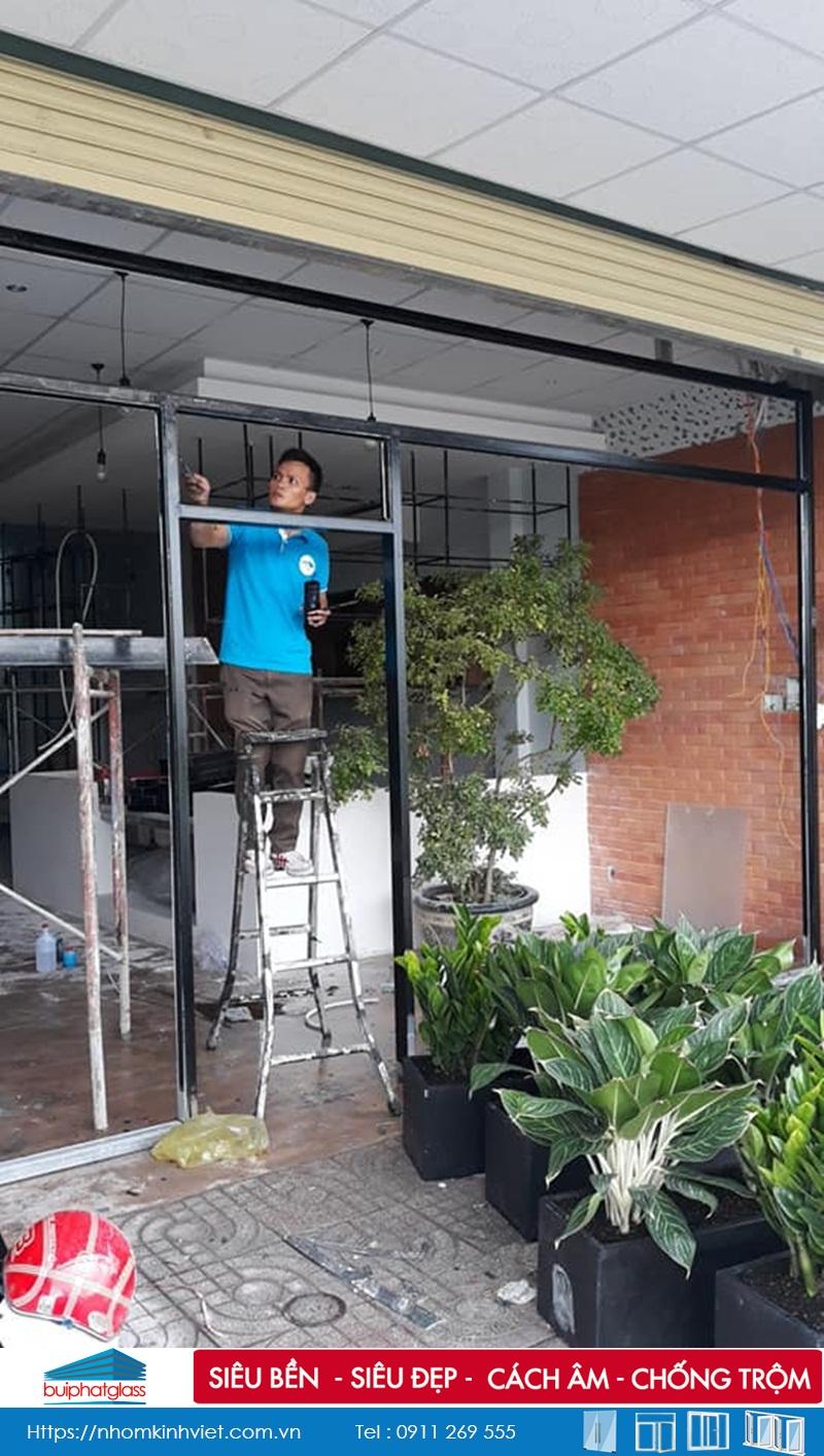 Lắp cửa kính khung inox tại An Phú, Tây Hưng Long Bình Chánh