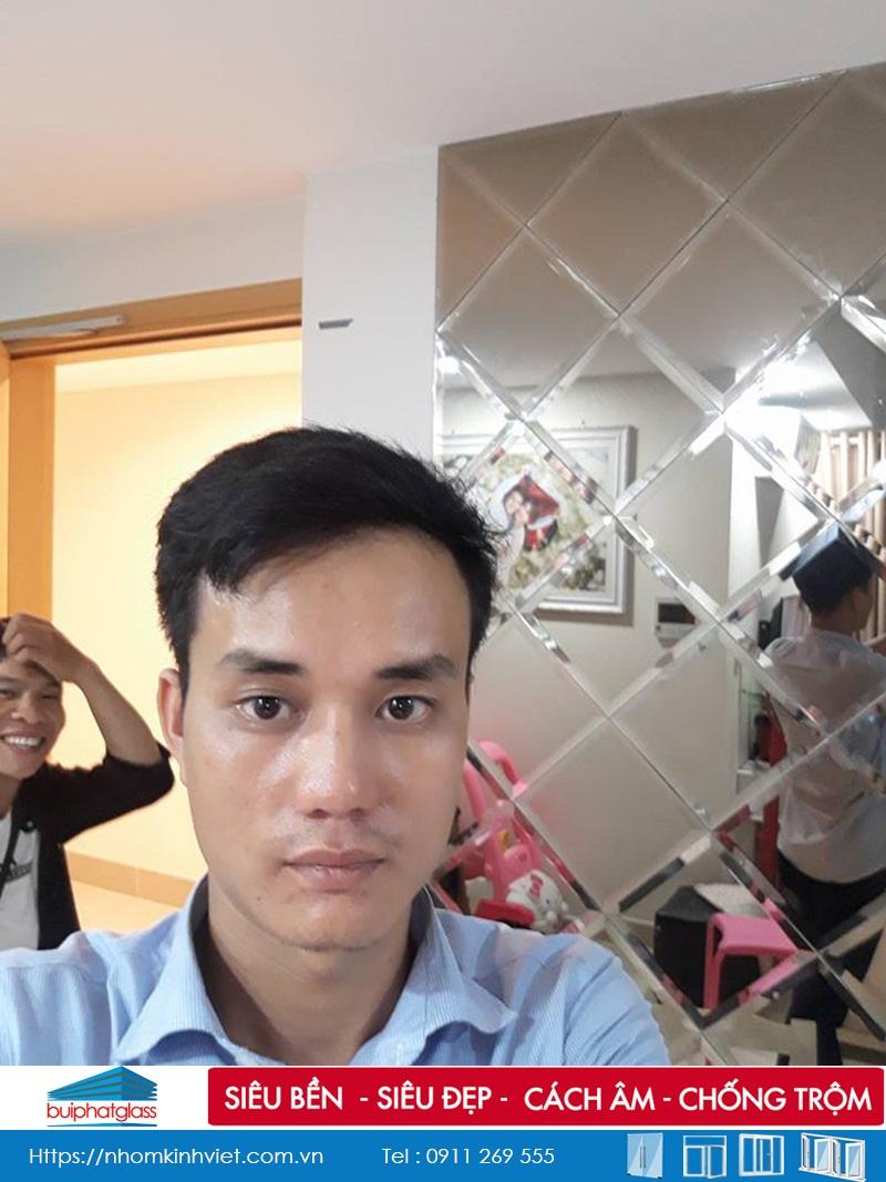 Gương ghép hình quả trám tại Chung Cư Masteri Quận 2, HCM