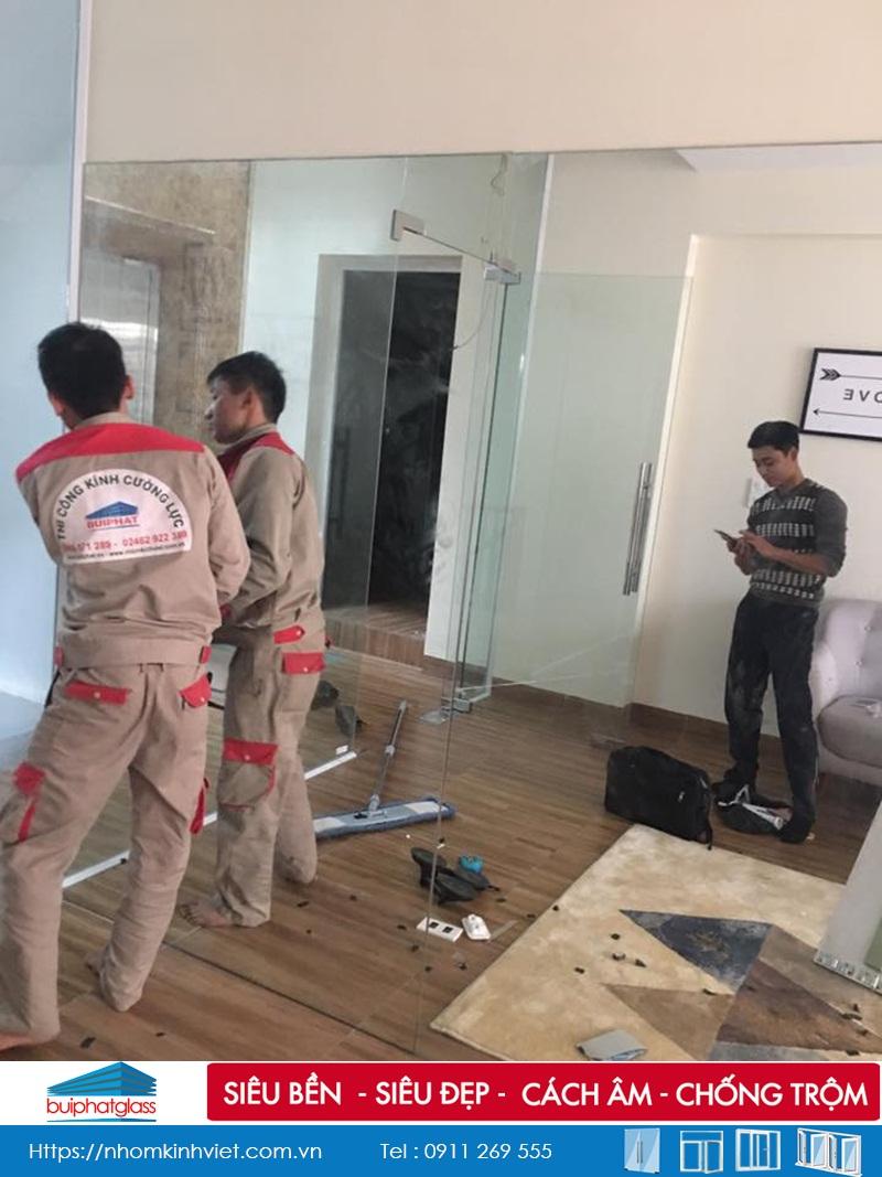 Lắp gương phòng tập Yoga tại Văn Quán Hà Đông