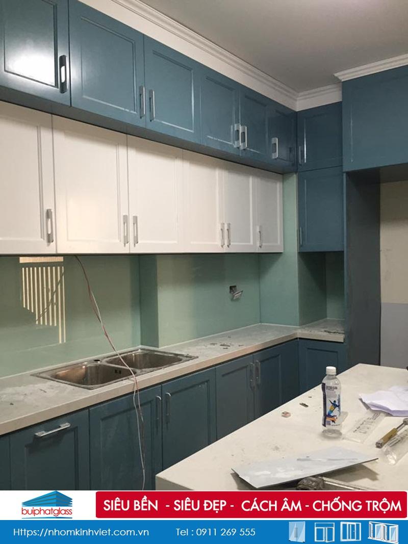 Lắp kính bếp, gương, vách kính tắm tại Vimeco Nguyễn Chánh
