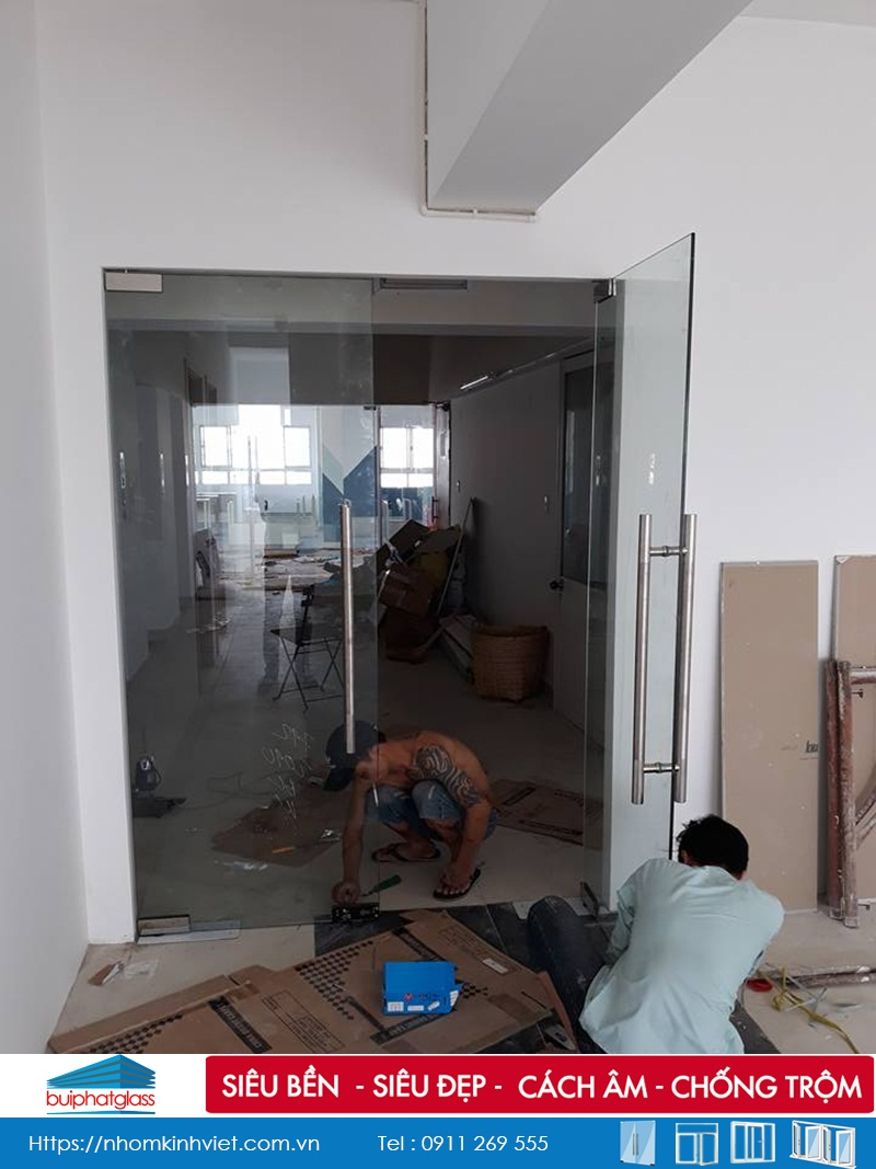 Vách ngăn văn phòng kính cho chung cư An Phúc Quận 2, HCM