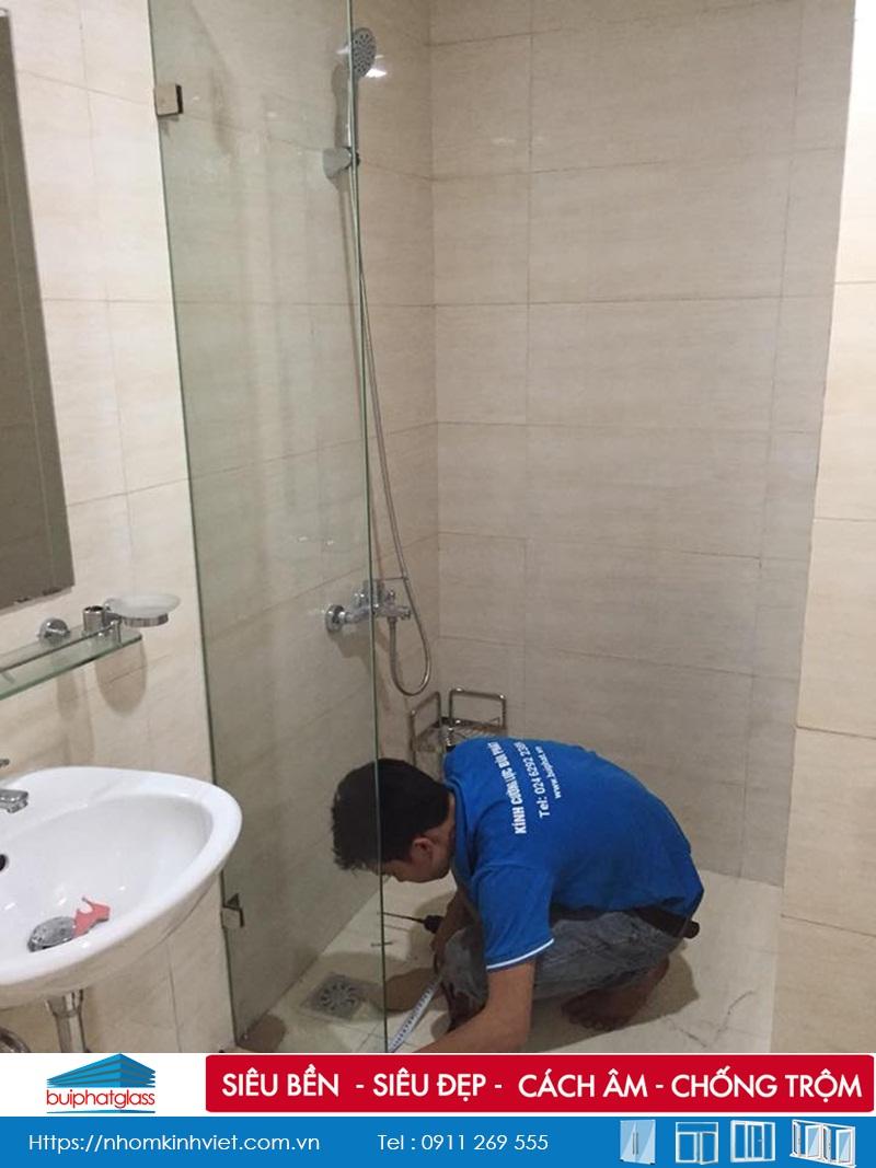 Lắp đặt Buồng tắm kính tại Chung Cư Đức Khải Quận 2, HCM