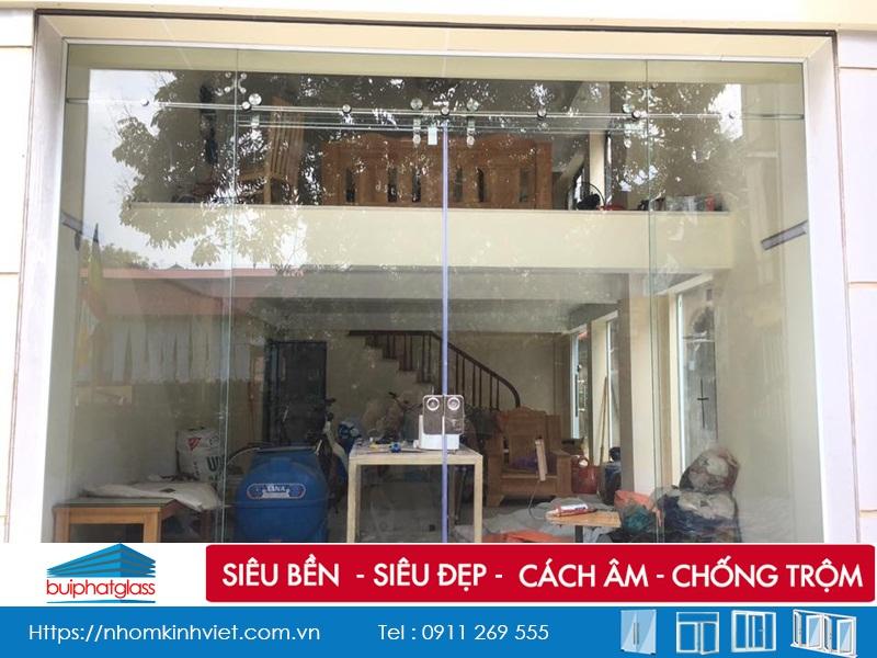 Ảnh Thực tế Công trình cửa kính Hà Nội Tại Ngõ 163 Đông Ngạc