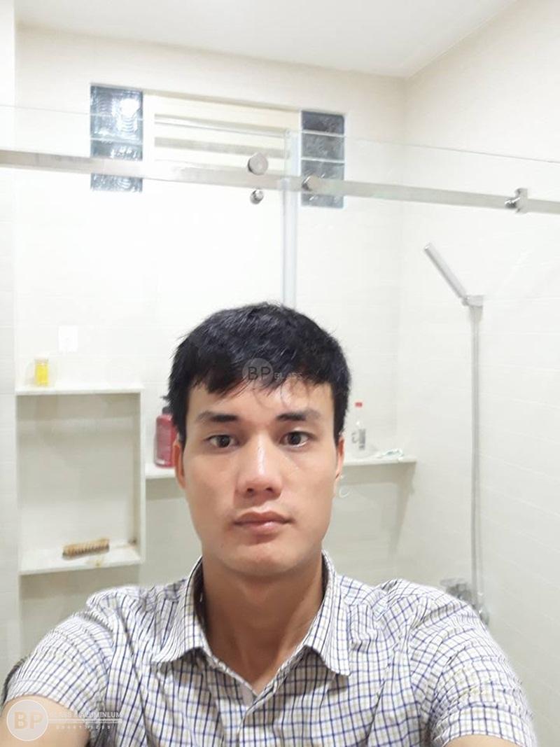 Lắp vách tắm kính hú Nhân số 144-1 Lê Minh Xuân, HCM